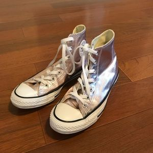 Rose Gold Converse High Tops